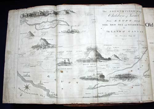 Map of Holy Land, American printed Bible, 1803.